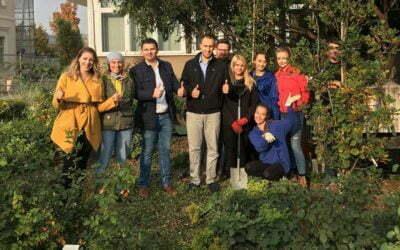Wspólna akcja sadzenia drzew na Uniwersytecie Rolniczym w Krakowie pod patronatem Fundacji Aeris Futuro!