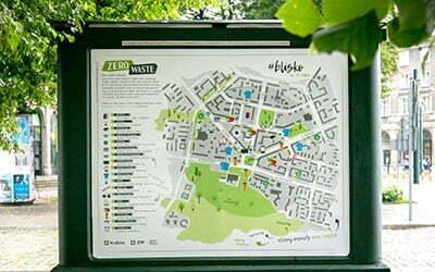 Mapa Zero Waste w Nowej Hucie – jeden z projektów Climathon Kraków 2019 wdrażany